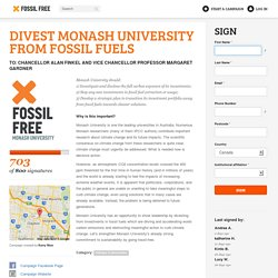 Divest Monash University from fossil fuels