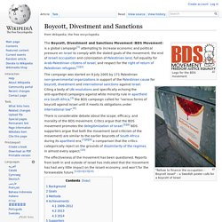 Boycott, Divestment and Sanctions (wikipedia)