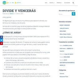 DIVIDE Y VENCERÁS - Aula en Juego