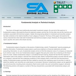 Fundamental Analysis vs Technical Analysis - Swing Alpha