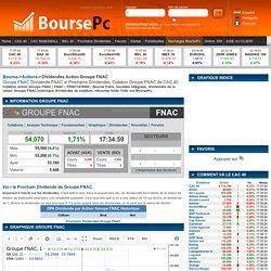 Dividende Groupe FNAC et Prochains Dividendes Groupe FNAC (FNAC) dans le Bourse de Paris en temps réel.