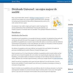 Dividende Universel : un enjeu majeur de société « ®om's blog
