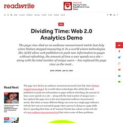 Dividing Time: Web 2.0 Analytics Demo - ReadWriteWeb