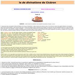 """le """"de divinatione """"de Cicéron : textes, traduction, explications, vocabulaire"""