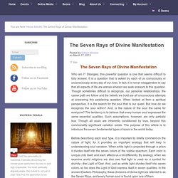 The Seven Rays of Divine Manifestation