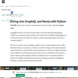 Diving into GraphQL and Neo4j with Python – Elements blog