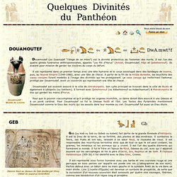 Les Divinites Egyptiennes - Suite