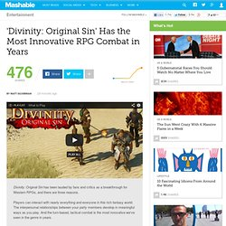 'Divinity: Original Sin' Has the Most Innovative RPG Combat in Years