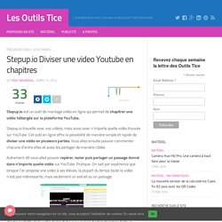 Stepup.io Diviser une video Youtube en chapitres
