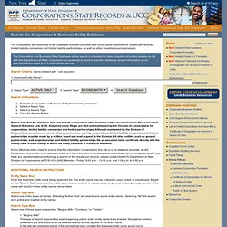 S Division of Corporations, State Records and UCC