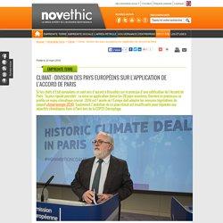 Climat : division des pays européens sur l'application de l'Accord de Paris