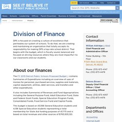 Division of Finance - Detroit Public Schools