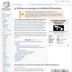 13e division de montagne de la Waffen SS Handschar
