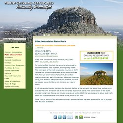 - Welcome to Pilot Mountain State Park