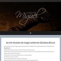 As três divisões de magia conforme Giordano Bruno – Casa de Miguel