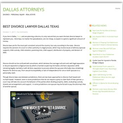 Best Divorce Lawyer Dallas Texas