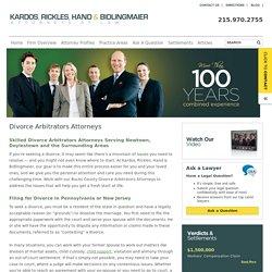 Divorce Arbitrators Attorneys