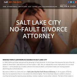 Salt Lake City No-Fault Divorce Attorney