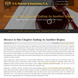 Divorce is One Chapter Ending As Another Begins - S. G. Morrow & Associates, P.A.