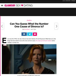 Number One Cause of Divorce Is Infidelity: Glamour.com