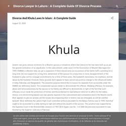 Divorce And Khula Laws In Islam : A Complete Guide