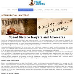 Lawyer For Quick Speed Fast Track Divorce Lawyers and Advocates
