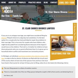 Divorce Attorneys in St. Clair Shores