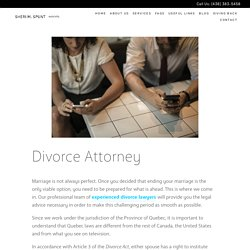 Top Divorce Lawyers in Montreal - Sheri M Spunt Avocats