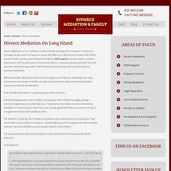 Divorce Mediation Services Long Island