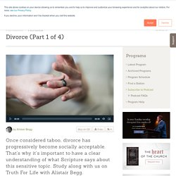 Divorce (Part 1 of 4) - Programs