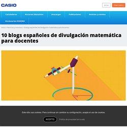 10 blogs españoles de divulgación matemática para docentes