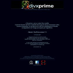 DivX Prime Official WebSite