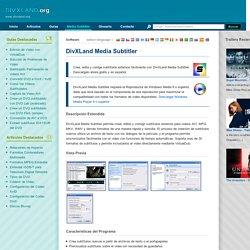 DivXLand Media Subtitler - Crear, editar y corregir subtítulos