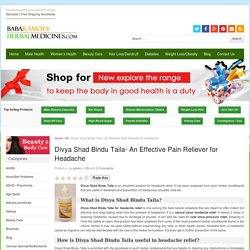Divya Shad Bindu Taila For Headache, Sinus Headache And Cold Sinus Pressure Relief