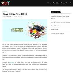 Divya Kit No Side Effects