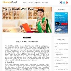 Top 12 Diwali Offers 2015 - Financial Planning in India