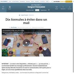 Dix formules à éviter dans un mail