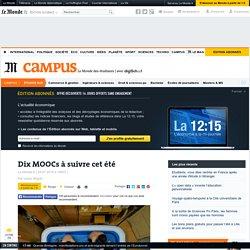 Dix MOOCs à suivre cet été