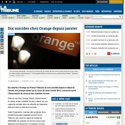 Impr.Dix suicides chez Orange depuis janvier