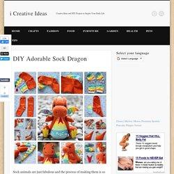 DIY Adorable Sock Dragon