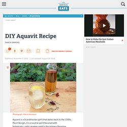 DIY Aquavit Recipe