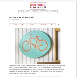 DIY bicycle canvas art