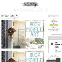 DIY Book Mobile Art
