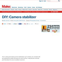 MAKE: Blog: DIY: Camera stabilizer