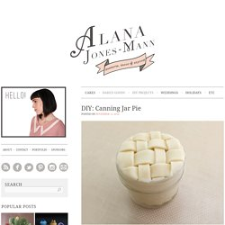 DIY: Canning Jar Pie