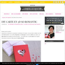 DIY Carte en 3D so romantic