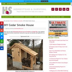 DIY Cedar Smoke House