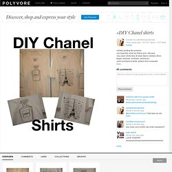 »DIY Chanel shirts