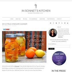 DIY Citrus Vinegar Cleaner - In Sonnet's Kitchen