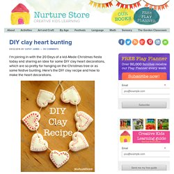 DIY clay heart bunting